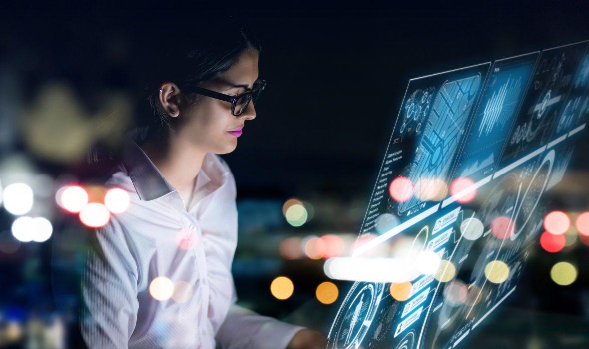 AI, accounting, futuristic, technology